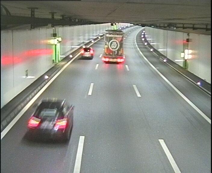 A2 Tunnel Schlund, Blickrichtung Basel